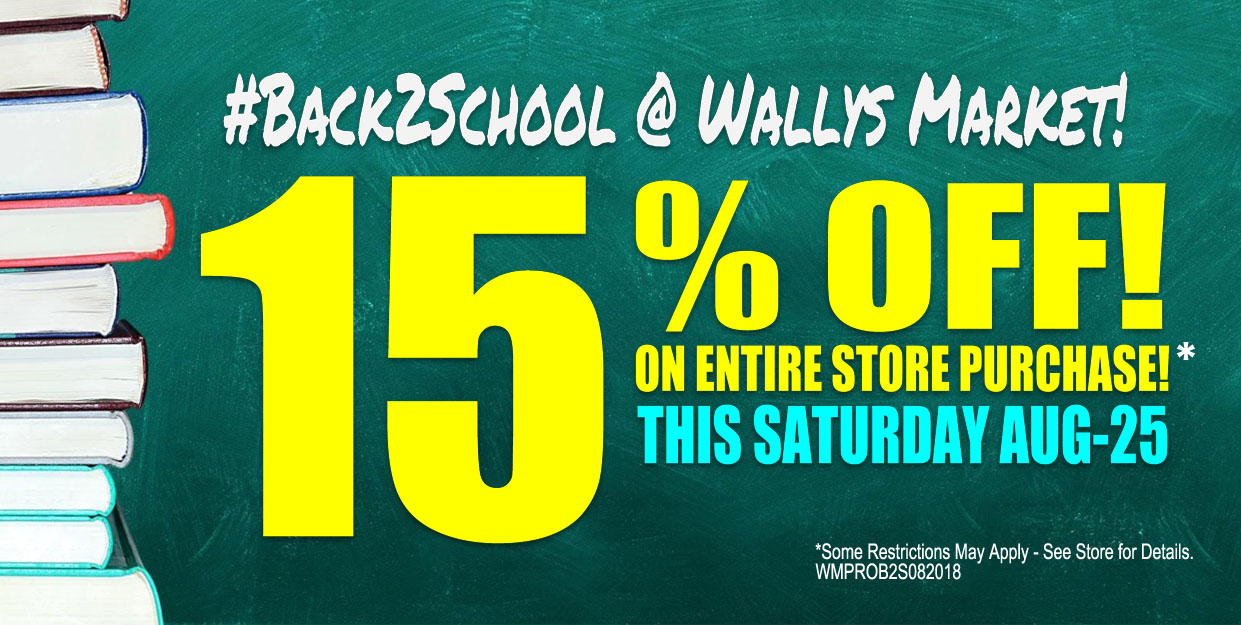Back To School Special! 15% OFF! On entire store purchase. Limited Time Offer.